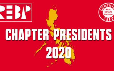 REBAP CHAPTER PRESIDENTS 2020