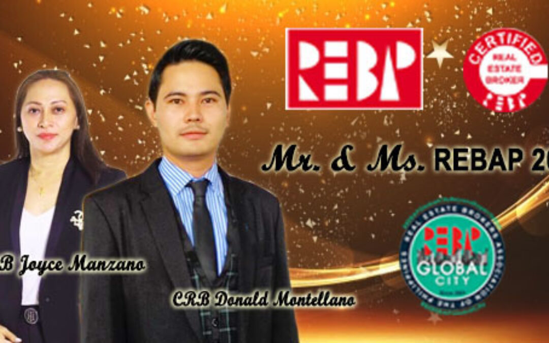REBAP GLOBAL CITY OFFICIAL CANDIDATES for Mr. and Ms. REBAP 2021